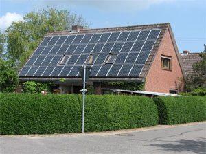 8,8 kWp netzeinspeisende solare Stromanlage Einbau: 2007 in Vogelsdorf