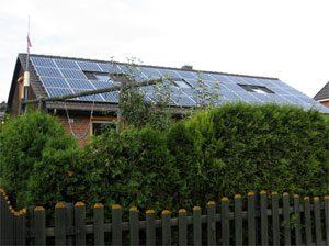 8,9 kWp netzeinspeisende solare Stromanlage Einbau: 2007 in Schönberg