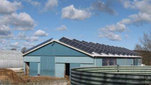 ca. 34 kWp netzeinspeisende solare Stromanlage Einbau: 2007 in Wildenhorst
